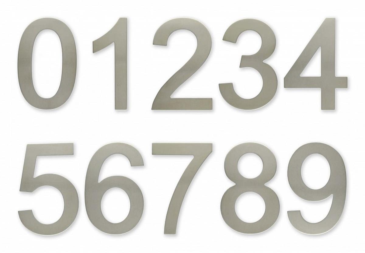 """C100s Číslice 100 mm - """"0"""" - NEREZ samolepící (C100s Číslice 100 mm - """"0"""" - NEREZ samolepící)"""