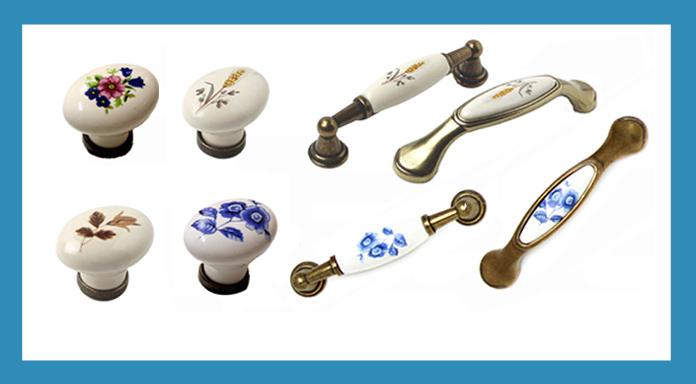 porcelánové úchytky a knopky
